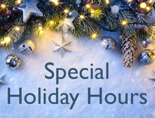 Holiday Hours – 2016